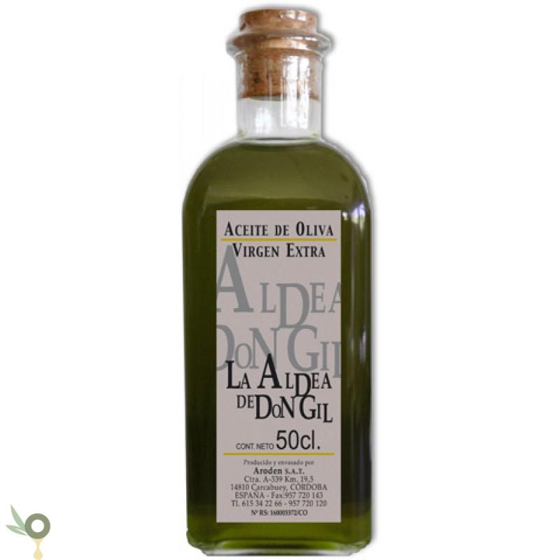 aldea de don gil black label bouteille verre 50cl extra virgin olive oil evoo. Black Bedroom Furniture Sets. Home Design Ideas