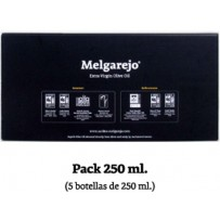 "Pack 5 bouteille verre  Melgarejo Selección"" 250 ml."
