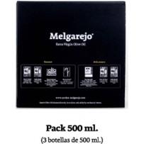 Pack 3 bouteille verre Melgarejo Selección  500 ml.