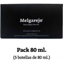 "Pack 5 bouteille verre Melgarejo Selección"" 80 ml."