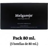 Packung von 5 Glasflaschen Melgarejo Selection 80 ml.
